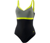 AquaJewel Schwimmanzug Damen, black/moss/lime punch