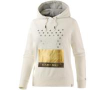 Sweatshirt Damen, ecru/gold