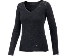 V-Pullover Damen, blau