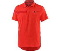 RF M NKCT ADV POLO PS Tennis Polo Herren, HABANERO RED/HABANERO RED/GYM RED/(BLACK)