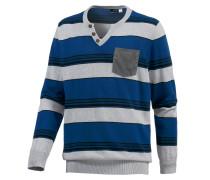 V-Pullover Herren, blau