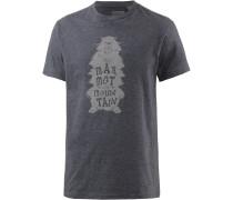 Wooly Printshirt Herren, grau