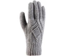 Pedro Fingerhandschuhe Damen, grau