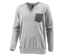 V-Pullover Herren, grau