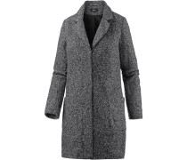 Kurzmantel Damen, medium grey melange