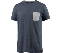 Printshirt Herren, grau