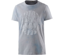 Wolifoz T-Shirt Herren, blau washed