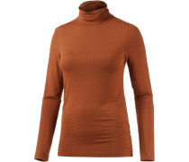 Rollkragenpullover Damen, Orange