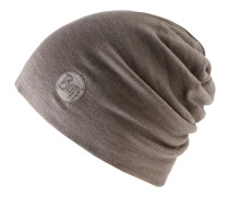 Merino Wool Thermal Hat Beanie, solid walnut brwon