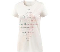Tech Lite Printshirt Damen, snow