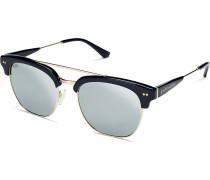 Sonnenbrille Havana+ Gloss Black Blue Mirrored Glass KS12-BKG-SMG