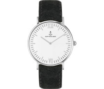 Uhr Campina/Campus White Silver Black Vintage CA03A0299D11A