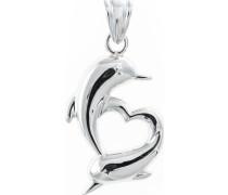 Herzanhänger mit Delphinen