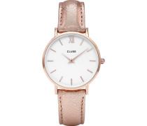Damenuhr Minuit Roségold White CL30038