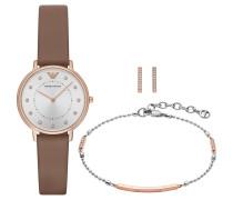 Set: Damenuhr mit Armband und OhringenAR8040