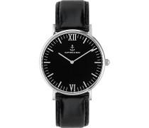 Uhr Campina/Campus Black Silver Leather CA03B0199D11A