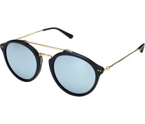Sonnenbrille Fitzroy Matt Black Blue Mirrored Glass KS04-BKM-BMG