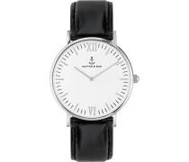 Uhr Campina/Campus White Silver Black Leather CA03A0199D11A