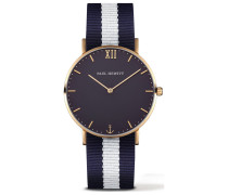 Sailor Line Uhr Gold Blue Lagoon PH-SA-G-St-B-NW-20