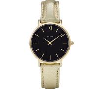 Damenuhr Minuit Gold Black CL30037