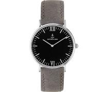 Uhr Campina/Campus Black Silver Grey Vintage CA03B02302D11A