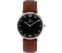 Uhr Campina/Campus Black Silver Brown Leather CB03B0103F11A