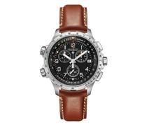 Herrenuhr Khaki Aviation X-Wind GMT Chrono Quartz H77912535