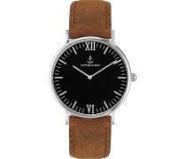 Uhr Campina/Campus Black Silver Brown Vintage CB03B0203F11A
