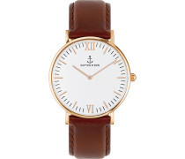 Uhr Campina/Campus White RG Brown Leather CA00A0103D11A