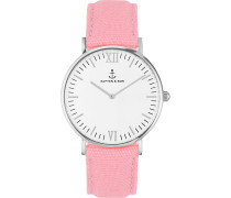 Uhr Campina/Campus White Silver Pink Canvas CA03A0627D11A