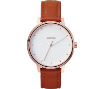 Damenuhr Kensington Leather Rose Gold A108 1045