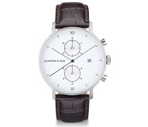 Herrenuhr Chrono Silver Brown Croco Leather CD03A0303F01A