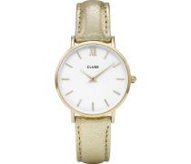 Damenuhr Minuit Gold White CL30036