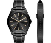 Set Herrenuhr + Armband AX7102