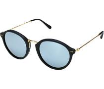 Sonnenbrille Maui Matt Black Blue Mirrored Glass KS03-BKM-BMG