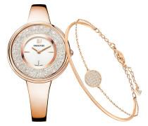 Damenuhr + Armband Crystalline Pure Set 5297166