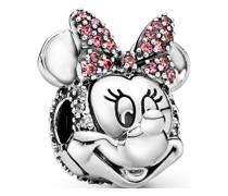 Charm Disney x Minnie Maus mit rosafarbener Pavé-Schleife Clip 797496CZS