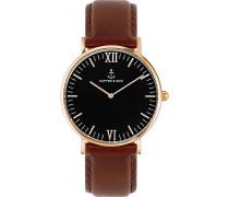 Uhr Campina/Campus Black RG Brown Leather CA00B0103D11A