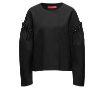 Oversize-Jacke aus elastischem Material-Mix mit Baumwolle mit Perlen-Details