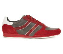 Sneakers mit Veloursleder-Details