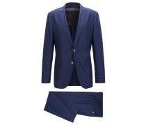 Slim-Fit Anzug aus Schurwoll-Mix mit Seide
