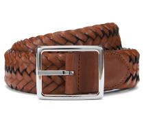 Gewebter Wendegürtel aus Leder und Textil