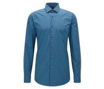Slim-Fit Karo-Hemd aus Baumwoll-Mix mit New-Kent-Kragen