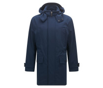 Relaxed-Fit Parka aus elastischem Material-Mix