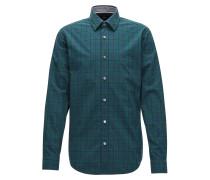 Kariertes Slim-Fit Hemd aus reiner Oxford-Baumwolle