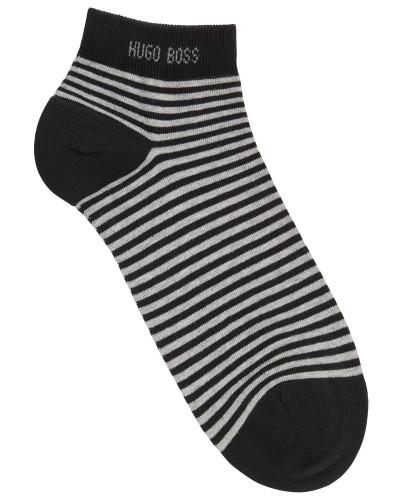 Gestreifte Sneaker-Socken aus elastischer Baumwolle