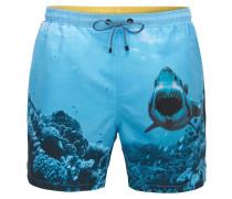 Schnelltrocknende Badeshorts mit Haifisch-Print