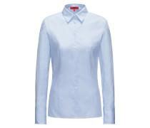 Slim-Fit Bluse aus Baumwolle mit Hahnentritt-Struktur