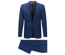 Strukturierter Slim-Fit Anzug aus Schurwoll-Mix