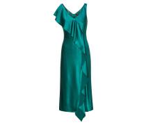 Mittellanges ärmelloses Kleid aus Material-Mix